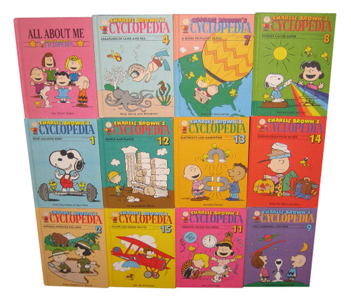 Peanuts Charlie Brown Encyclopedia Vintage Book Lot - (12 Hardcover Books)
