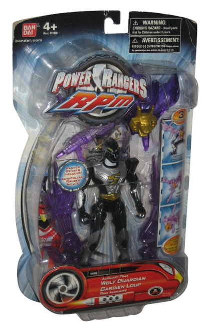 Power Rangers RPM Auxiliary Trax Wolf Guardian (2009) Purple Bandai Figure