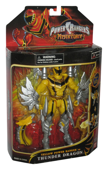 Power Rangers Mystic Force (2006) Bandai Yellow to Thunder Dragon Figure