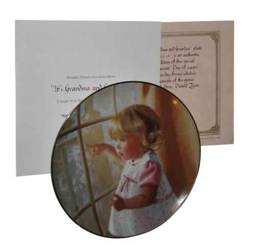 Its Grandma & Grandpa Little Girl Pointing Donald Zolan Collector Plate