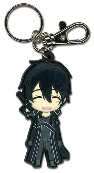 Sword Art Online Happy Kirito Anime PVC Keychain GE-36748