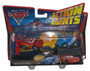 Disney Pixar Cars 2 Movie Action Agents Raoul Caroule & Lightning McQueen Die-Cast Toy Car Set