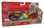 Disney Cars Main Street Spinout Radiator Springs 4-Car Gift Pack - (Ramone / Luigi / Guido / Tire Lightning McQueen)