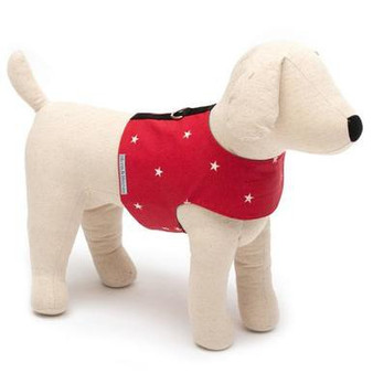 Mutts & Hounds Harness Cranberry Stars Large