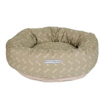 Mutts & Hounds Sage Linen Donut Bed Medium