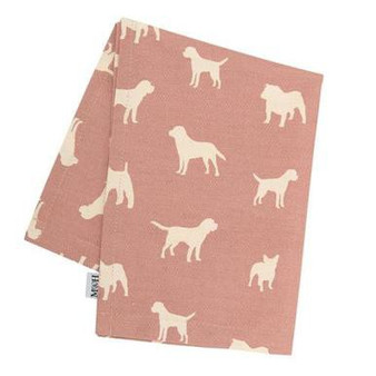 Mutts & Hounds Old Rose Tea Towel