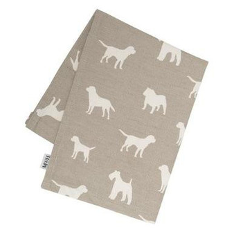 Mutts & Hounds French Grey Tea Towel