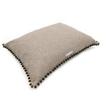 Mutts & Hounds Pillow beds Grey Pom Pom