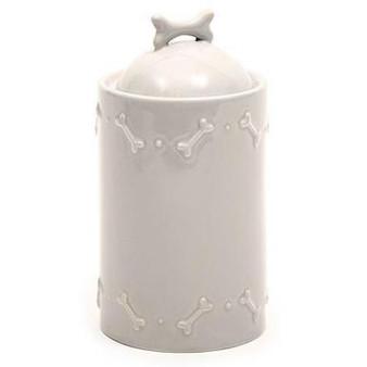 Mutts & Hounds Ceramics Treat Jars French Grey