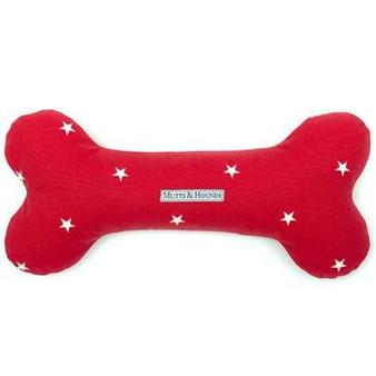 Mutts & Hounds Cranberry Stars Bone Toy