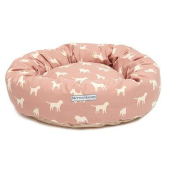 Mutts & Hounds Old Rose Donut Bed Medium