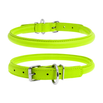 Leather Collar Round Green