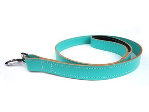 Ditsy Pet Mint Leather Lead