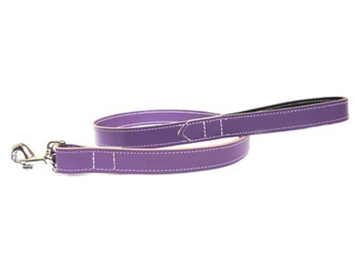 Ditsy Pet Purple Leather Lead