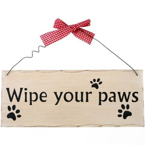 Wipe Your Paws Sign