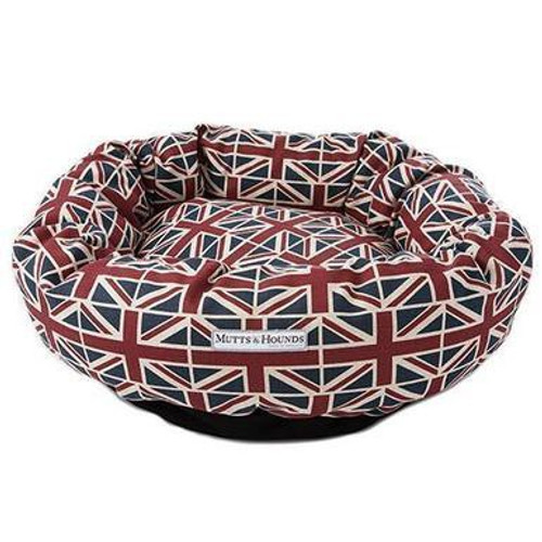 Mutts & Hounds Union Jack Donut Bed