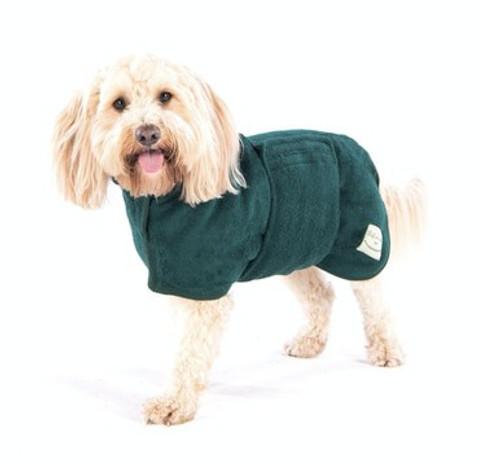 Dog Drying Coat Green