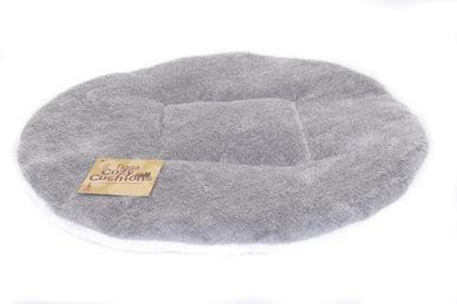 Tigga Towers Two Tone Round Pillow - White & Grey