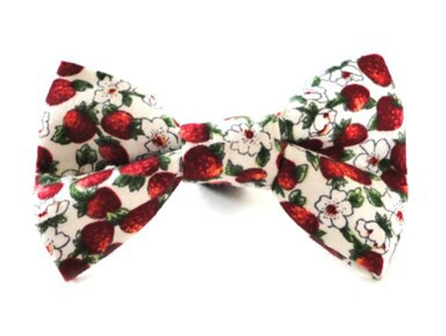 Ditsy Pet Summer Strawberry Dickie Bow