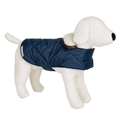 Mutts & Hounds Coat Navy Quilt