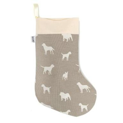 Mutts & Hounds French Grey Christmas Stocking