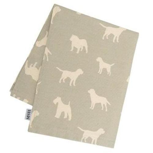 Mutts & Hounds Powder Blue Tea Towel