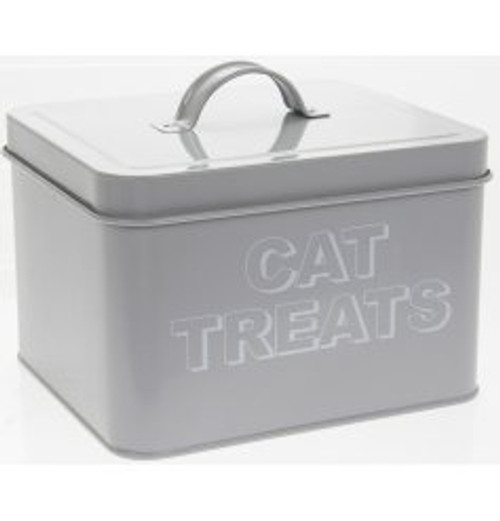 Metal Cat Treats Storage Tin