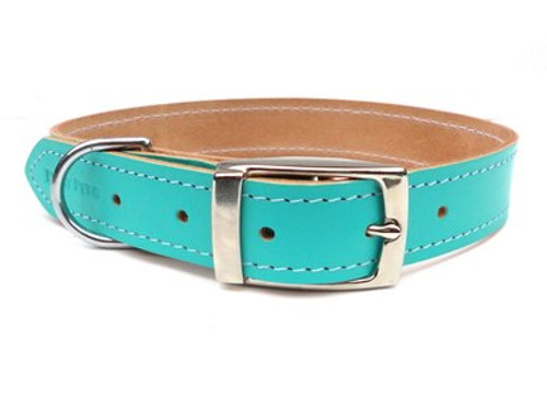 Ditsy Pet Mint Leather Collar