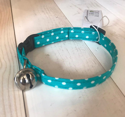 Ditsy Pet Aqua Spot Cat Collar