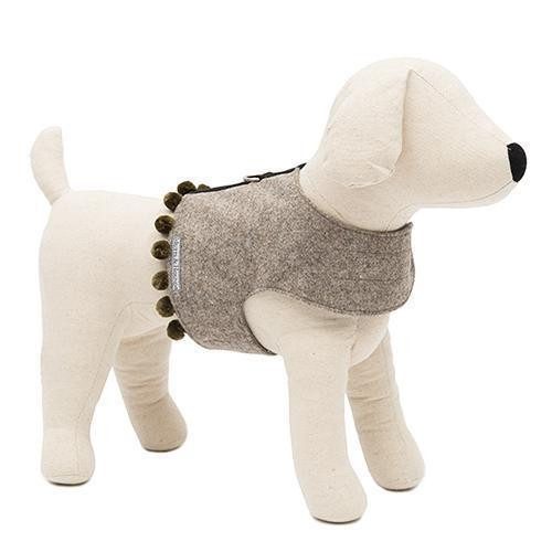 Mutts & Hounds Grey Pom Pom Harness