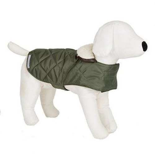 Mutts & Hounds Coat Olive Quilt