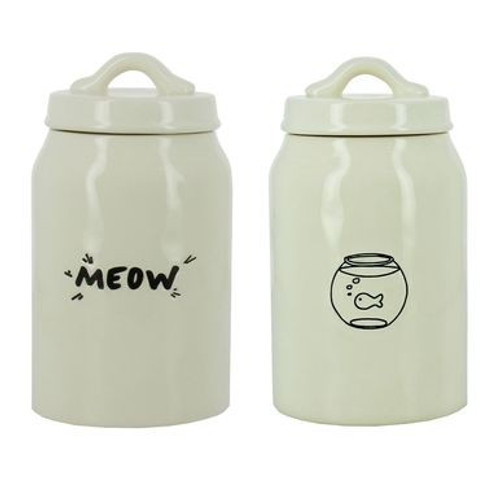 Meow Fishbowl Cat Treat Jar