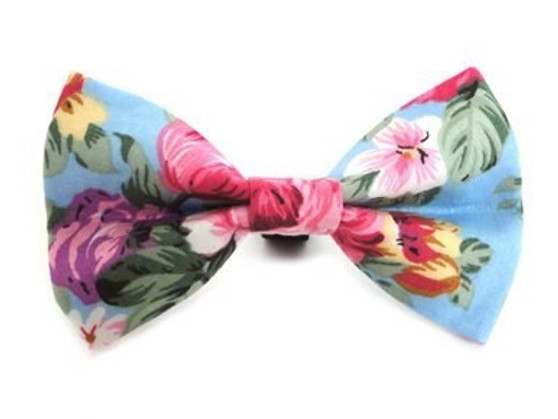 Ditsy Pet Rose Dickie Bow