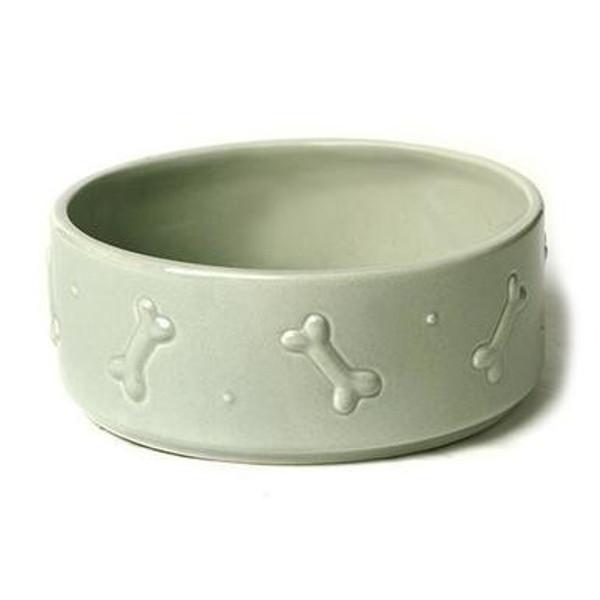 Mutts & Hounds Ceramics Dog Bowl Sage Green Large