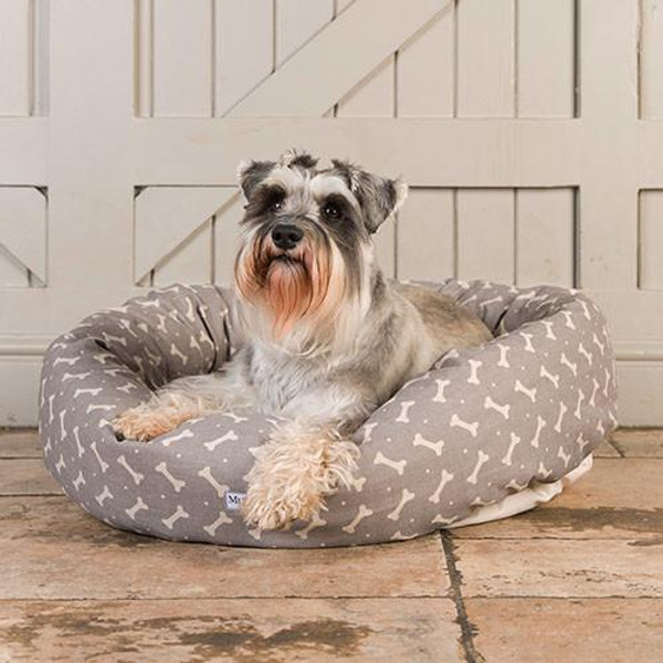 Mutts & Hounds Grey Bones Donut Bed