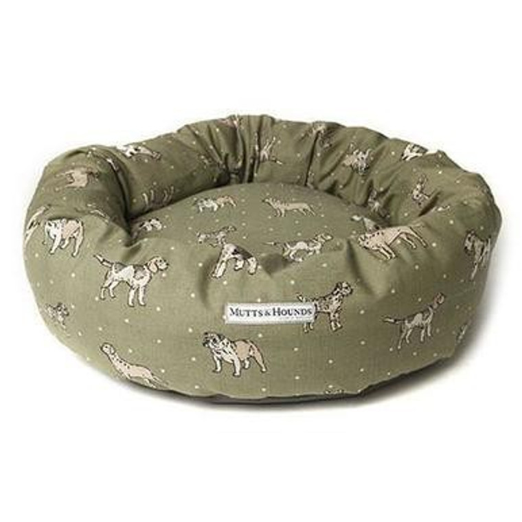 Mutts & Hounds Green Donut Bed Small