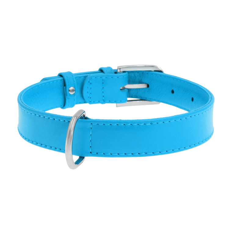 Leather Collar Blue
