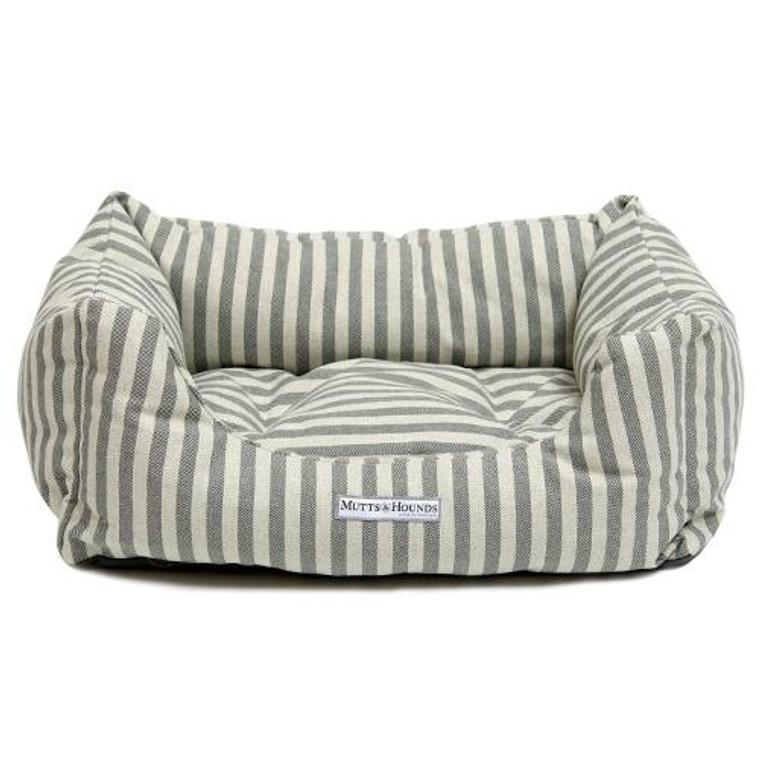 Mutts & Hounds Flint Stripe Boxy Bed