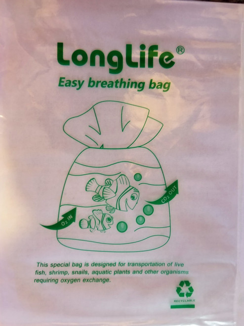 "(15) 6"" x 10"" LongLife© Aquarium Breathing Bags (*Extra thick / Curved sealing) FAST Free Shipping"
