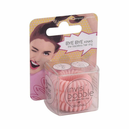 Invisibobble Traceless Hair Ring, 3 count, PINK