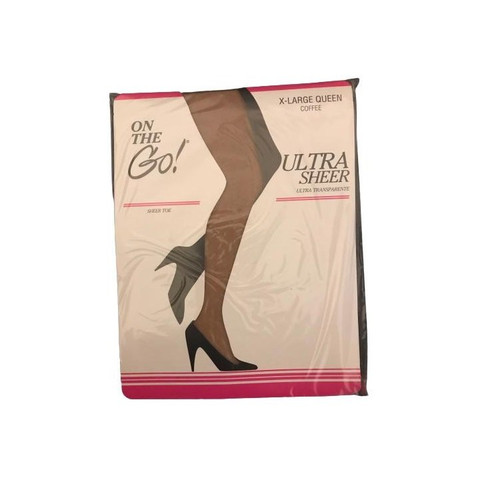 On The Go! Ultra Sheer X-Large Queen COFFEE (Pack of 5)