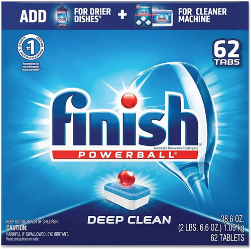 Finish All in 1, Dishwasher Detergent - Powerball - Dishwashing Tablets - Dish Tabs, Fresh Scent, 62 Count