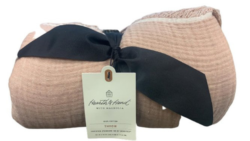 Hearth & Hand With Magnolia 100% Cotton Throw Blanket 60 IN x 70 IN