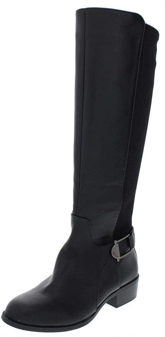 Alfani Womens Kallumm Faux Leather Tall Knee-High Boots Black 5 Medium (B,M)
