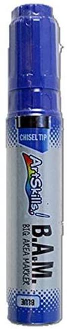 Art Skills B.A.M. Chisel Tip Marker (Big Area Marker) (Blue)
