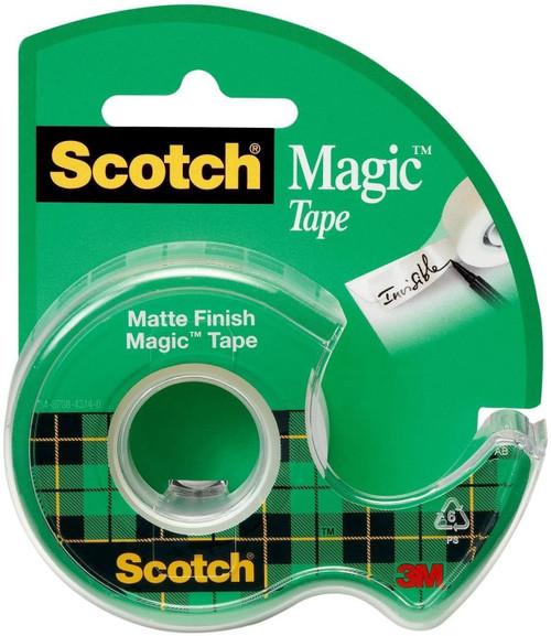 Scotch 119 Magic Tape in Handheld Dispenser, 1/2-Inch x 800-Inch, 1-Inch Core, Clear