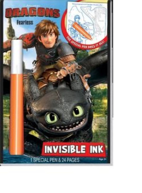 Dragons: Faceless, Invisible Ink Activity Book