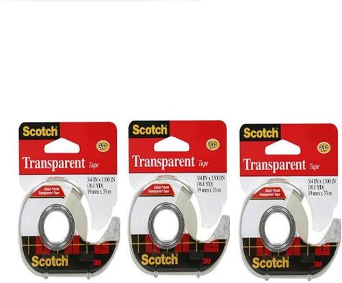 3M Transparent Tape 3/4 x 1300 (36.1 YD) (3 Count)