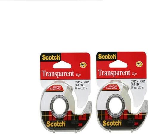 3M Transparent Tape 3/4 x 1300 (36.1 YD)  (2 Count)
