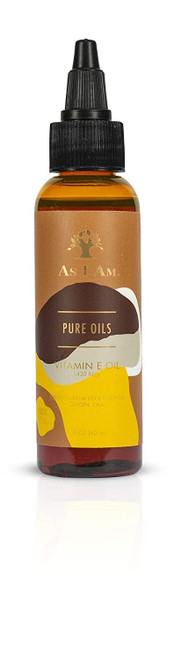 As I Am Pure Oils Vitamin E Oil - 2 ounce - 100% Pure D-Alpha Tocopherol - Super Anti-Oxidant - Fights Free Radicals - Prevents UV Damage - Preserves Collagen and Elastin - Fights Aging Process